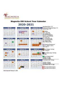 Magnolia School District Calendar pdf