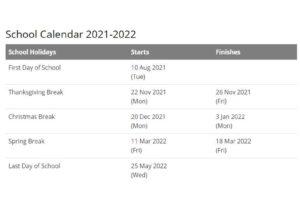 Orange County School District Calendar 2021 22 pdf