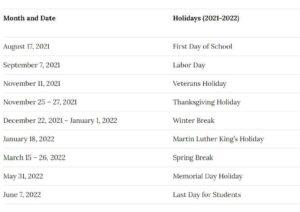 Orange County School District Calendar pdf