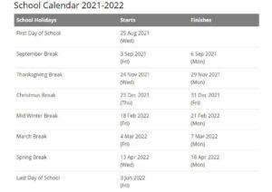 Wilson School District Calendar 2021 2022 pdf