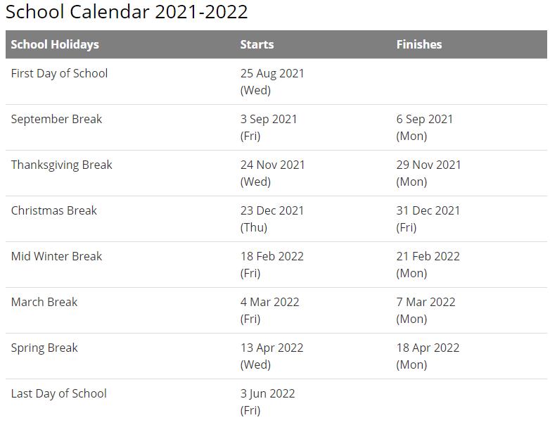 Wilson School District Calendar 2021-2022