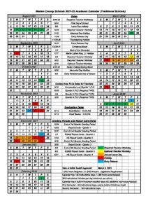 2021 2022 BCS Traditional Schools Calendar pdf