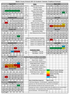 Bladen County School Calendar