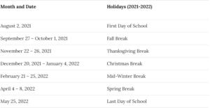 Cobb County School District Calendar 2021