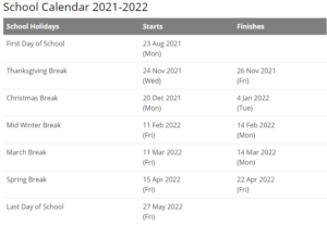 Hickory Public Schools Calendar