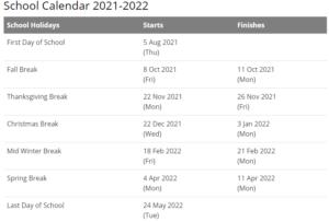 Richmond County Schools Calendar 2021