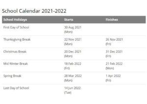 San Diego County School District Calendar 2021 2022 pdf