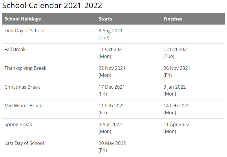 Burke County Public Schools Calendar