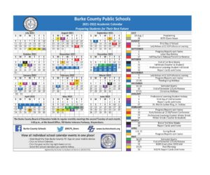 Burke County Schools Calendar 2021-2022