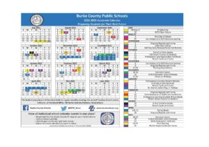 Burke County Schools Calendar 2021 2022 pdf