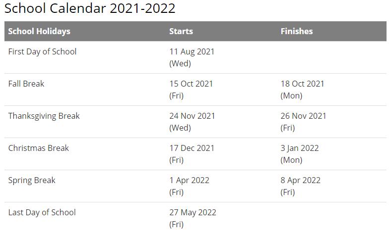 Northwest Allen County Schools Calendar 2021-2022