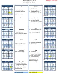 Perry Township Schools Calendar