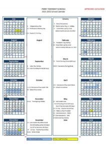 Perry Township Schools Calendar 2021 pdf