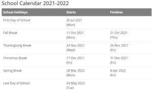 Perry Township Schools Calendar 2021-2022
