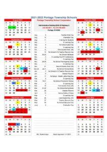 Portage Township School Calendar 2021 2022 1 pdf