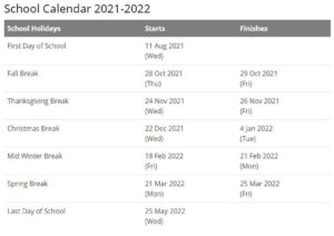 Union School Corporation Calendar pdf