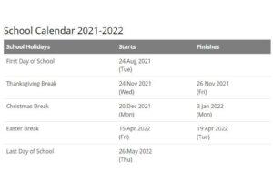 Union School District Calendar 2021 pdf