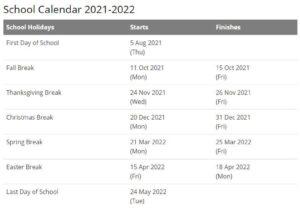 Washington Community Schools Calendar pdf